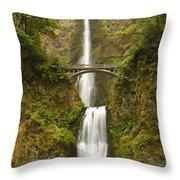 Multnomah Falls 2 B Throw Pillow