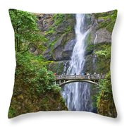 Multnomah Falls 4 Throw Pillow