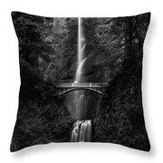 Multnomah Falls Throw Pillow by Adam Mateo Fierro