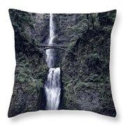 Multnomah Falls - Columbia Gorge - Oregon State Throw Pillow