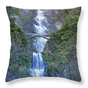 Multnomah Falls Columbia River Gorge Throw Pillow