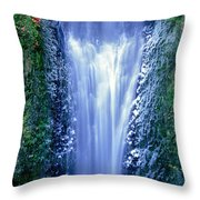 Multnomah Falls Columbia River Gorge Oregon Throw Pillow
