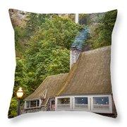 Multnomah Falls Lodge Throw Pillow