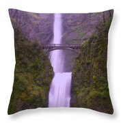 Multnomah In The Drizzling Rain Throw Pillow