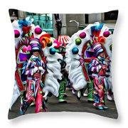 Mummer Color Throw Pillow