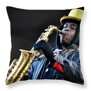 Mummer Jazzman Throw Pillow