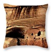 Mummy Cave Ruin Throw Pillow