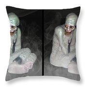 Mummy Dearest - Cross Your Eyes And Focus On The Middle Image That Appears Throw Pillow