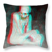 Mummy Dearest - Use Red-cyan Filtered 3d Glasses Throw Pillow