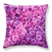 Mums In Purple - Featured In 'comfortable Art' And 'nature Photography' Groups Throw Pillow