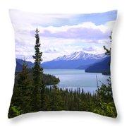 Muncho Lake View Throw Pillow