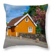 Munch's House Throw Pillow