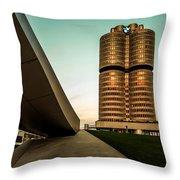 munich - BMW office - vintage Throw Pillow