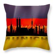 Munich City Throw Pillow