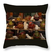 Munich Market With Pickles And Olives Throw Pillow