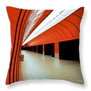 Munich Subway I Throw Pillow by Hannes Cmarits