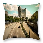 Munich Traffic Throw Pillow