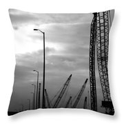 Municipal Construction  Throw Pillow