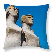 Municipal Square In Ourem Throw Pillow