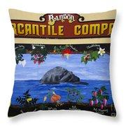 Mural Bandon Mercantile Company Throw Pillow
