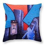 Mural, Nyc, New York City, New York Throw Pillow
