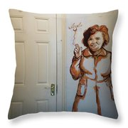 Mural Of Mccourts Mother Angela Throw Pillow