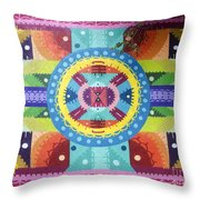 Mural Painting By H101 Throw Pillow