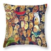 Mural Street Art Ecuador 2 Throw Pillow