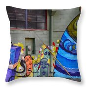 Mural - Wall Art Throw Pillow