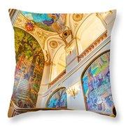 Murals Of Capitole De Toulouse Throw Pillow