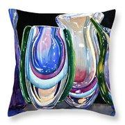 Murano Crystal Throw Pillow