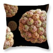 Murine Polyomavirus Throw Pillow
