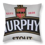 Murphy's Stout Throw Pillow