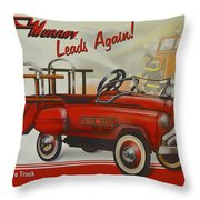Murray Fire Truck Throw Pillow