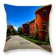 Murrow Hall - Washington State University Throw Pillow