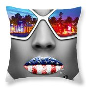 Musa Miami Throw Pillow
