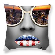 Musa New York Throw Pillow