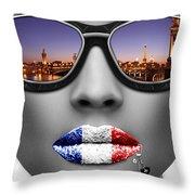Musa Paris Throw Pillow