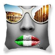 Musa Roma Throw Pillow