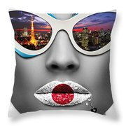 Musa Tokyo Throw Pillow