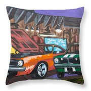 Muscle Cars Throw Pillow