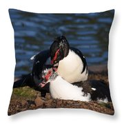 Muscovy Love Throw Pillow