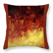Muse In The Fire 3 Throw Pillow