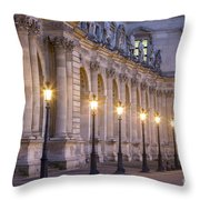 Musee Du Louvre Lamps Throw Pillow