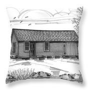 Museum Education Center Throw Pillow by Richard Wambach