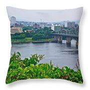 Museum Of Civilization Across The Ottawa River In Gatineau-qc Throw Pillow