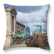 Museum Of Fine Arts View Throw Pillow