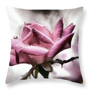 Museum Park Pink Rose Throw Pillow