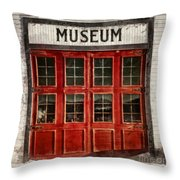Museum Throw Pillow by Priska Wettstein