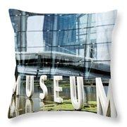 Museum Reflection Throw Pillow